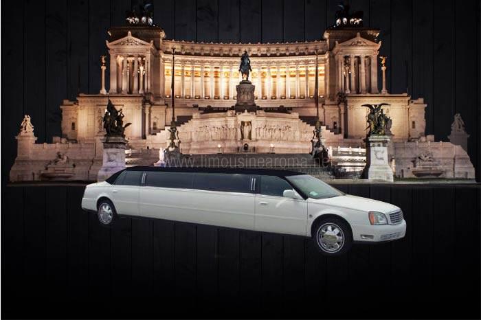 Noleggio cadillac limousine roma bianca affitto cadillac for Noleggio arredi roma