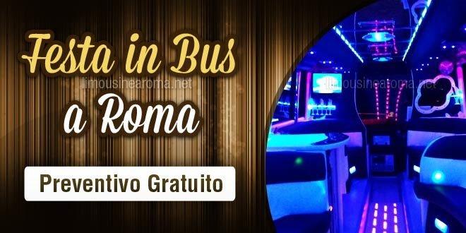 noleggio bus per festa a roma