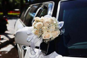 Limousine Bianca Tetto Nero Matrimonio Roma