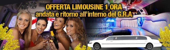 noleggio limousine festa della donna 1 ora