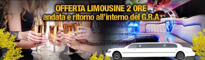 noleggio limousine festa della donna 2 ore