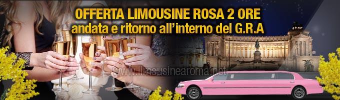noleggio limousine rosa festa della donna 2 ore