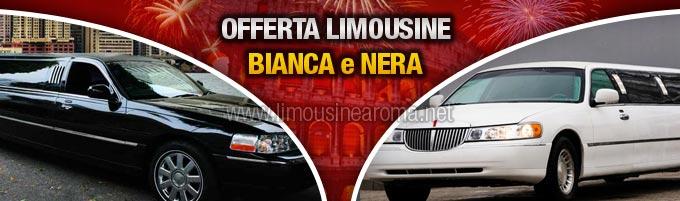 noleggio limousine bianca o nera per capodanno