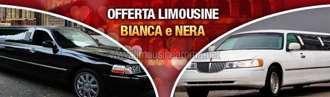 noleggio limousine bianca o nera per san valentino
