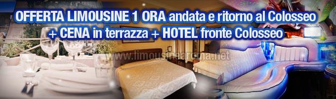 Offerta Limousine con Cena e Hotel al Colosseo