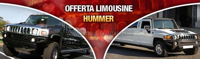 noleggio hummer limousine per san valentino