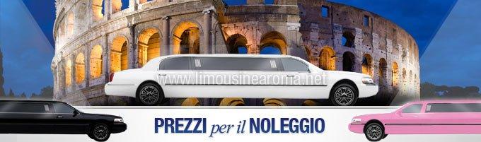 prezzi per noleggio limousine a Roma
