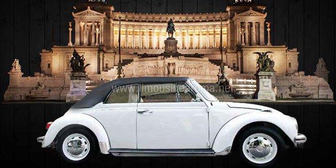 Maggiolone Bianco Cabrio Roma